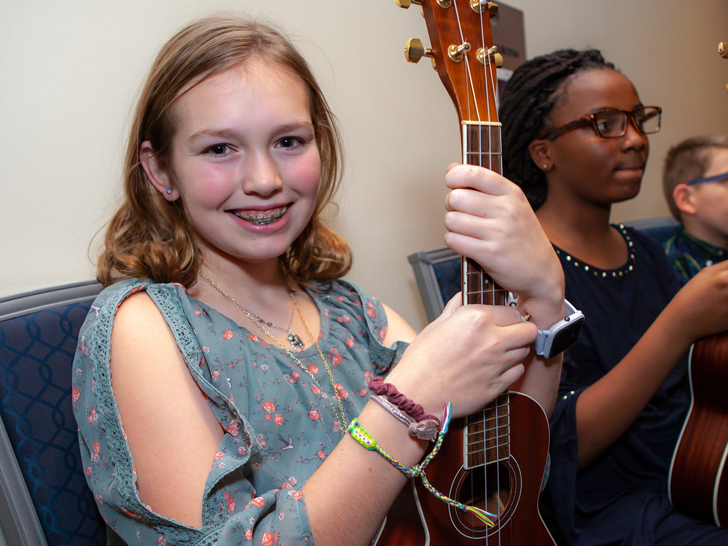 Lydia Knight, a fifth-grader member of Overall Creek Elementary's Ukulele Ensemble, at the 2019 Excellence in Education Gala, hosted by the City Schools Foundation on Friday, Jan. 25, 2019 at Stones River Country Club in Murfreesboro.