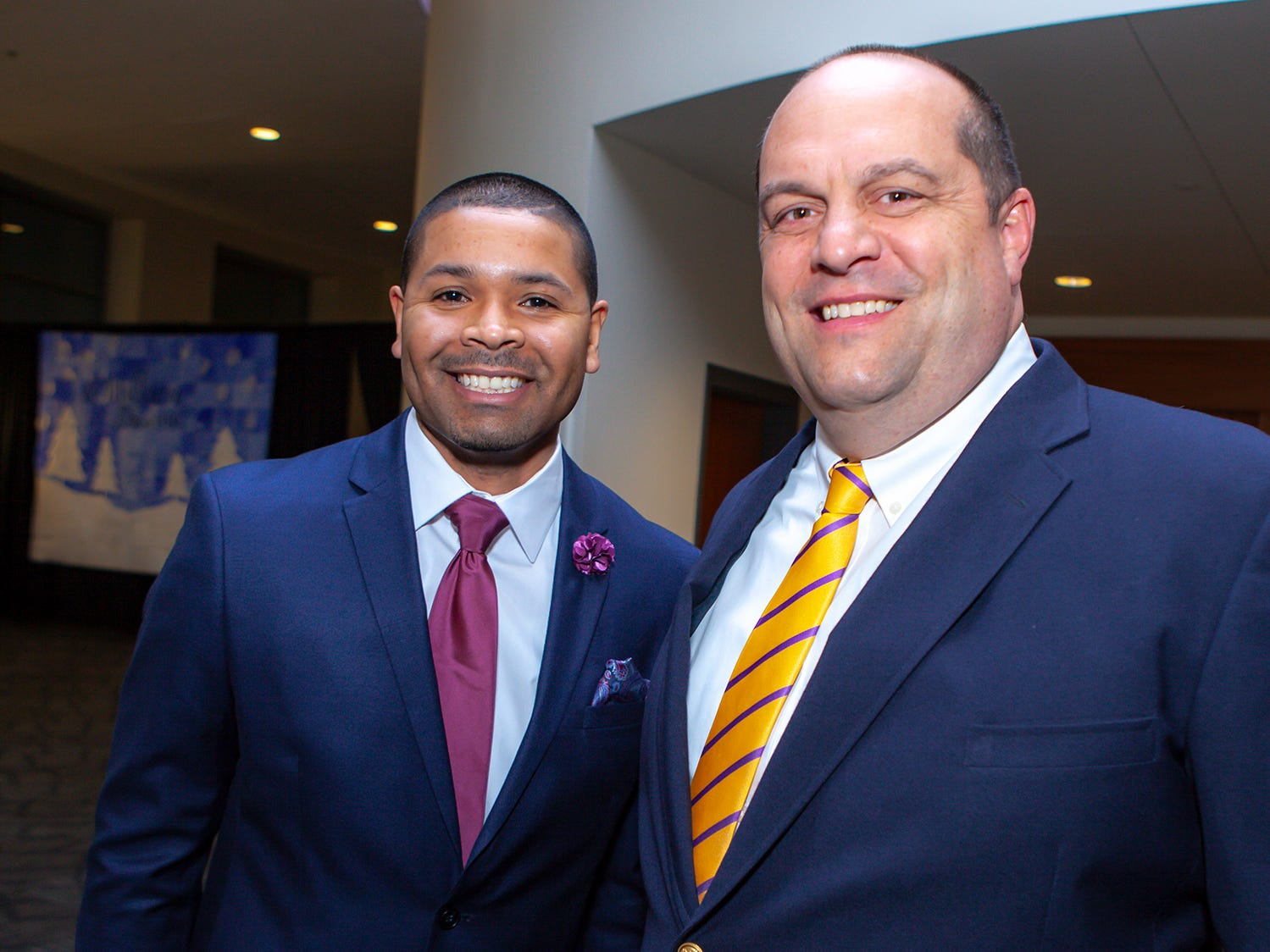 Overall Creek Assistant Principal Raeshon Torres and Principal Don Bartch at the 2019 Excellence in Education Gala, hosted by the City Schools Foundation on Friday, Jan. 25, 2019 at Stones River Country Club in Murfreesboro.