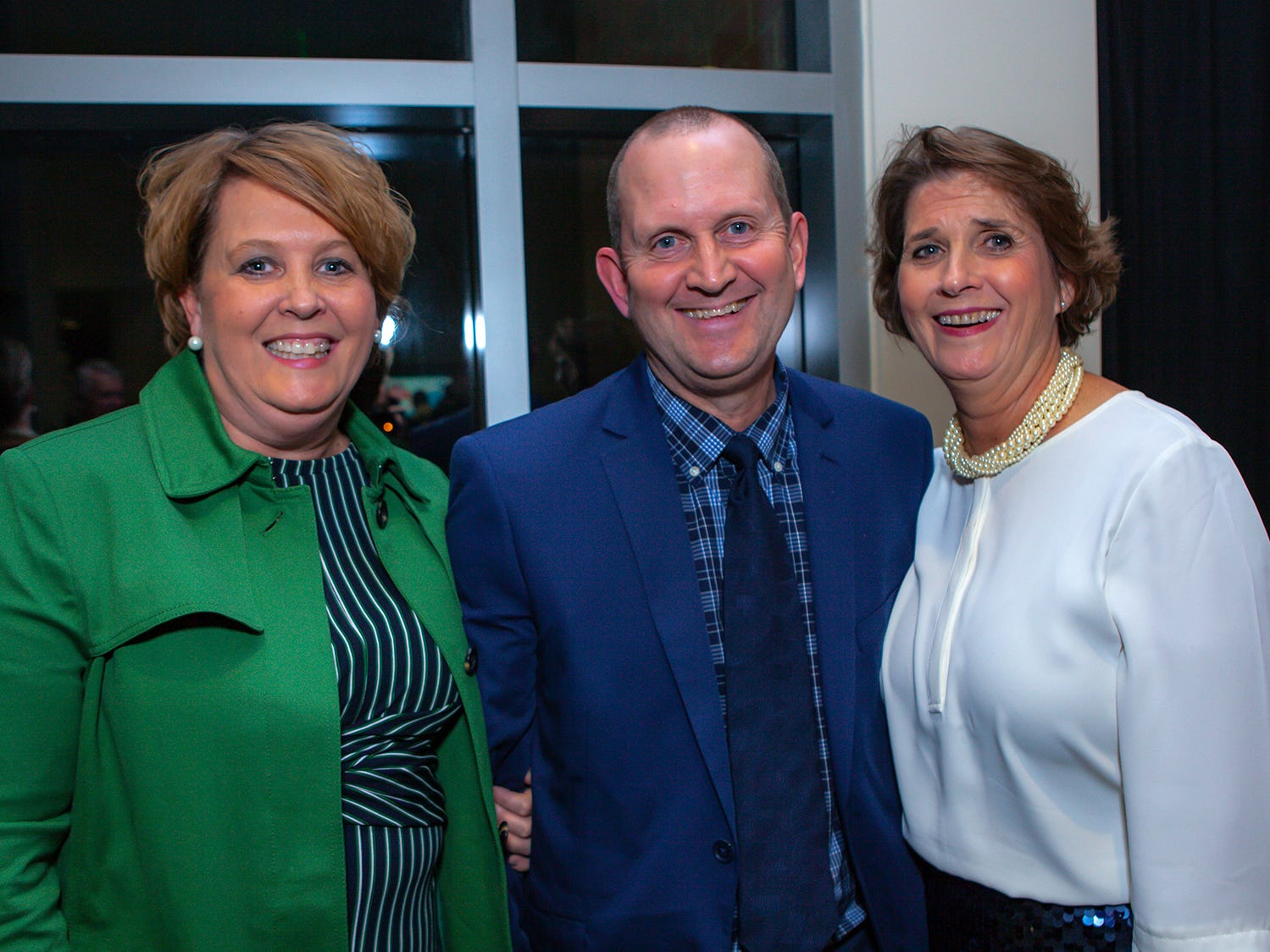 Sheri and Paul Arnette with Kim Frank at the 2019 Excellence in Education Gala, hosted by the City Schools Foundation on Friday, Jan. 25, 2019 at Stones River Country Club in Murfreesboro.