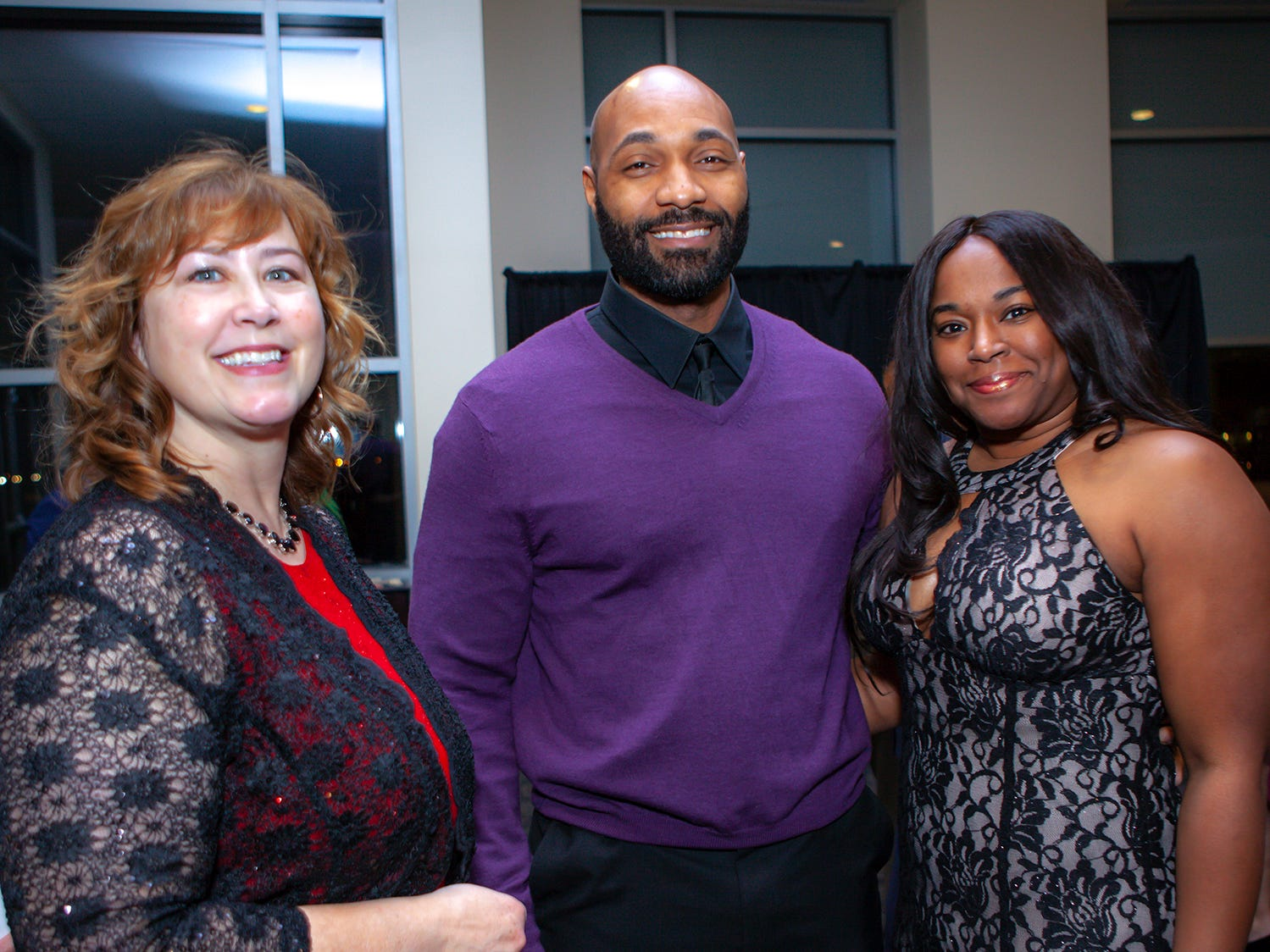 Jolene Radnotti, Shomari Louis and Shavon Davis-Louis at the 2019 Excellence in Education Gala, hosted by the City Schools Foundation on Friday, Jan. 25, 2019 at Stones River Country Club in Murfreesboro.