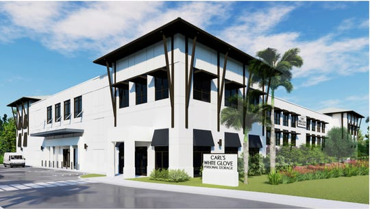 A rendering of Carl's White Glove Personal Storage & Wine Vault, which is under construction at 11211 U.S. 41 E. in East Naples.