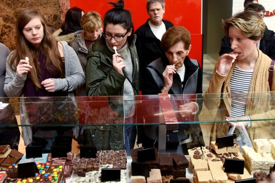 Teachers Recipe Gourmet Products had over 20 varieties of fudge for people to sample and buy at the Chocolate Expo, held Sunday, January 27, 2019, at Westfield Garden State Plaza in Paramus.