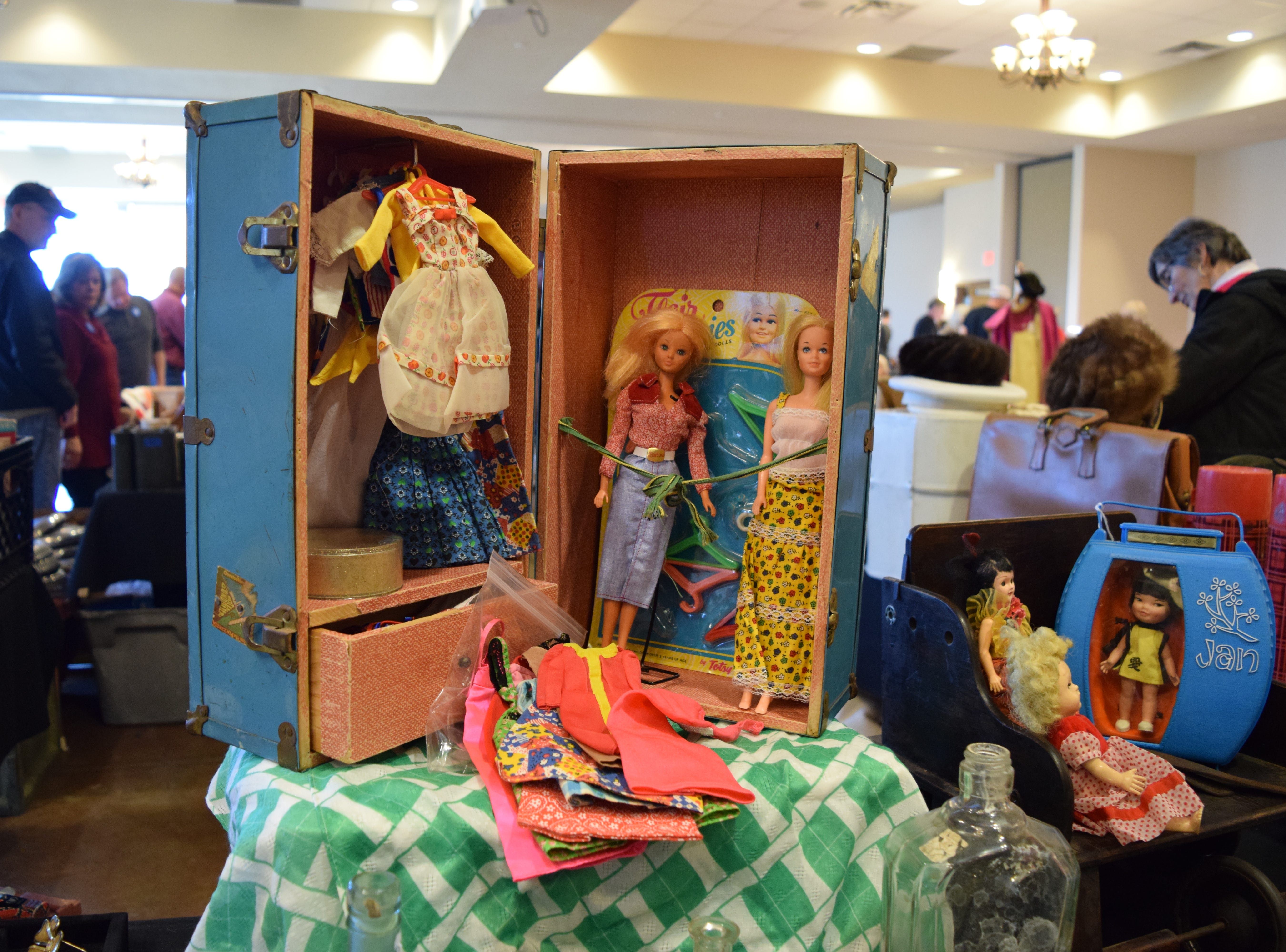 This Barbie collection from the 1970s — stored in a 1960s metal doll trunk — induces serious childhood nostalgia. The Barbie brand of dolls made its debut in March of 1959 at the American International Toy Fair in New York, meaning Barbie will turn 60 years old in 2019. Barbie's creator, Ruth Handler, was originally inspired by the German doll from the 50s and 60s called Bild Lilli. — Antiques Treasures Show at the Farm and Ranch Heritage Museum, Jan. 26, 2019.