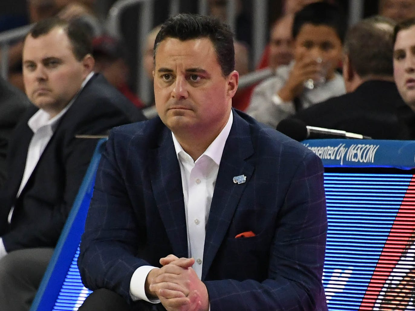 Jan 26, 2019; Los Angeles, CA, USA; Arizona Wildcats head coach Sean Miller in the first half against the UCLA Bruins at Pauley Pavilion.