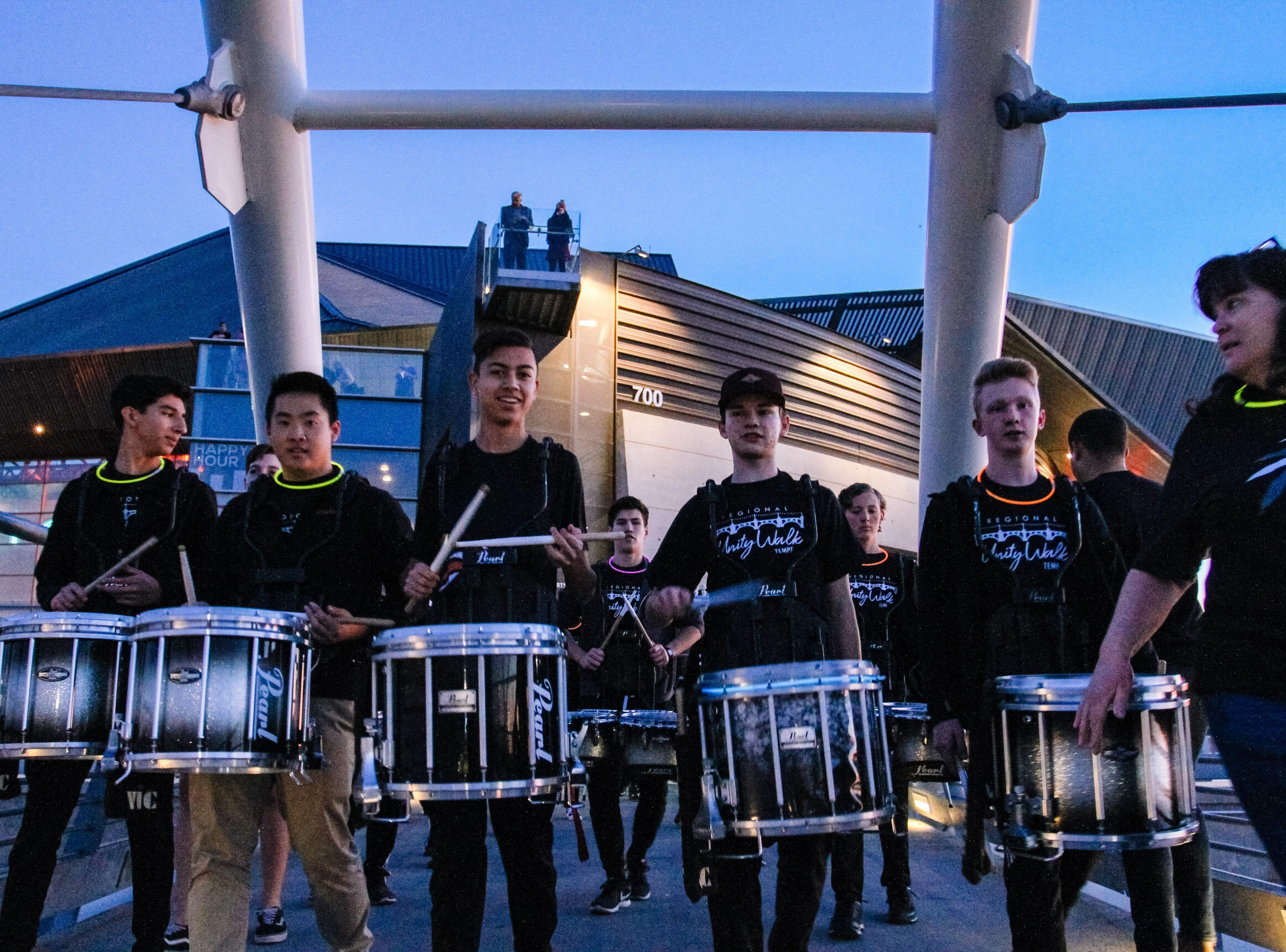 The Corona del Sol band leads the Unity Walk 2019 at Tempe Beach Park, in Tempe, Arizona on Saturday, Jan. 26, 2019.