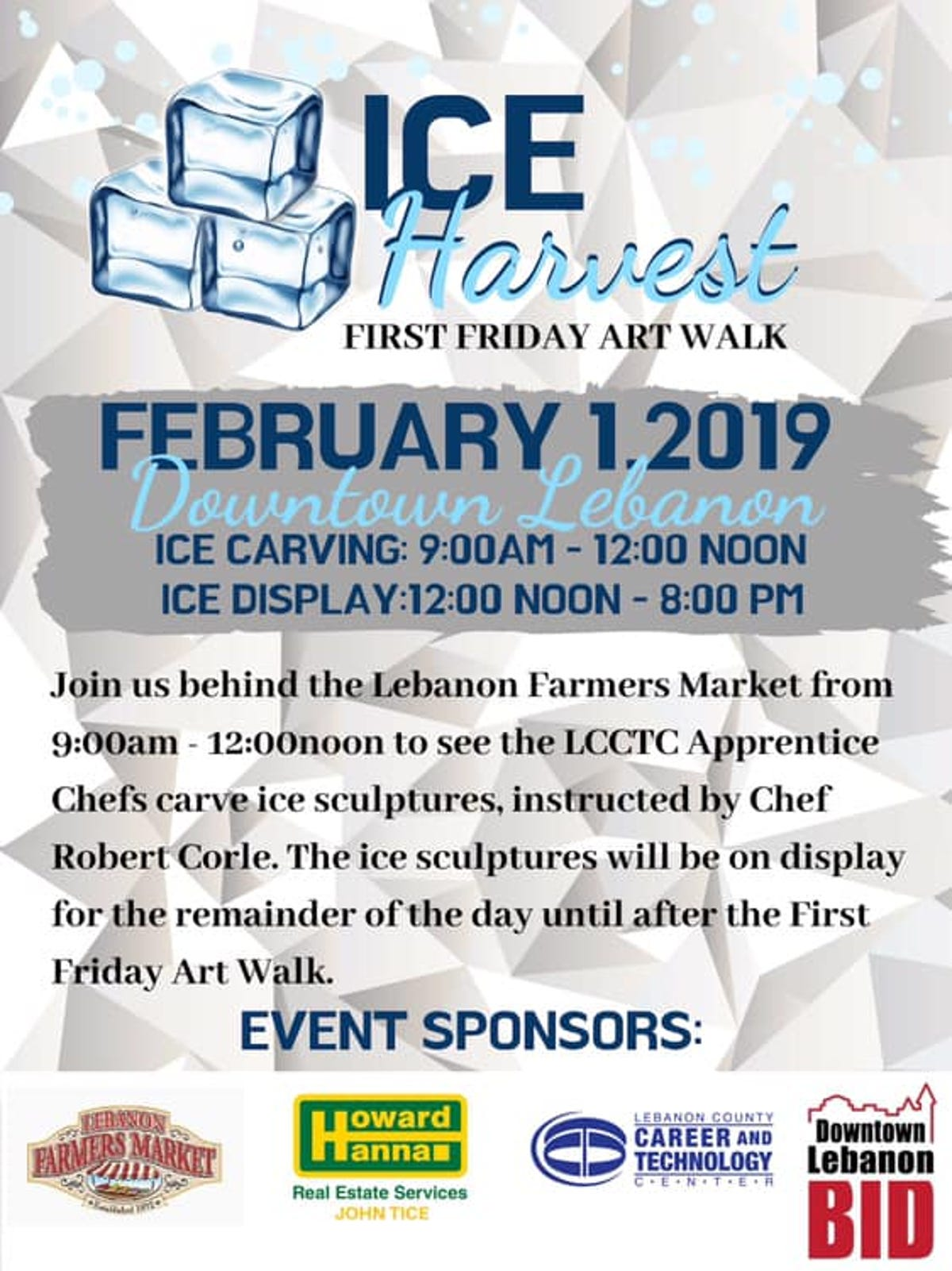 Ice sculpting coming to downtown Lebanon this Friday