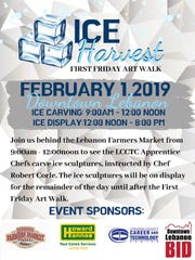 The new ice carving event, dubbed the Ice Harvest, will feature apprentices using chainsaws to create ice sculptures in downtown Lebanon on Friday, Feb. 1.