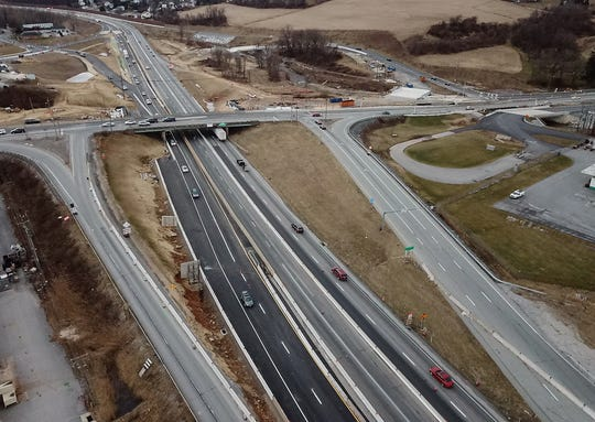Be aware of changes in the traffic flow in the construction area of Interstate 83 and Mount Rose Avenue. Crews are moving north bound lanes, Sunday, January 27, 2019.John A. Pavoncello photo