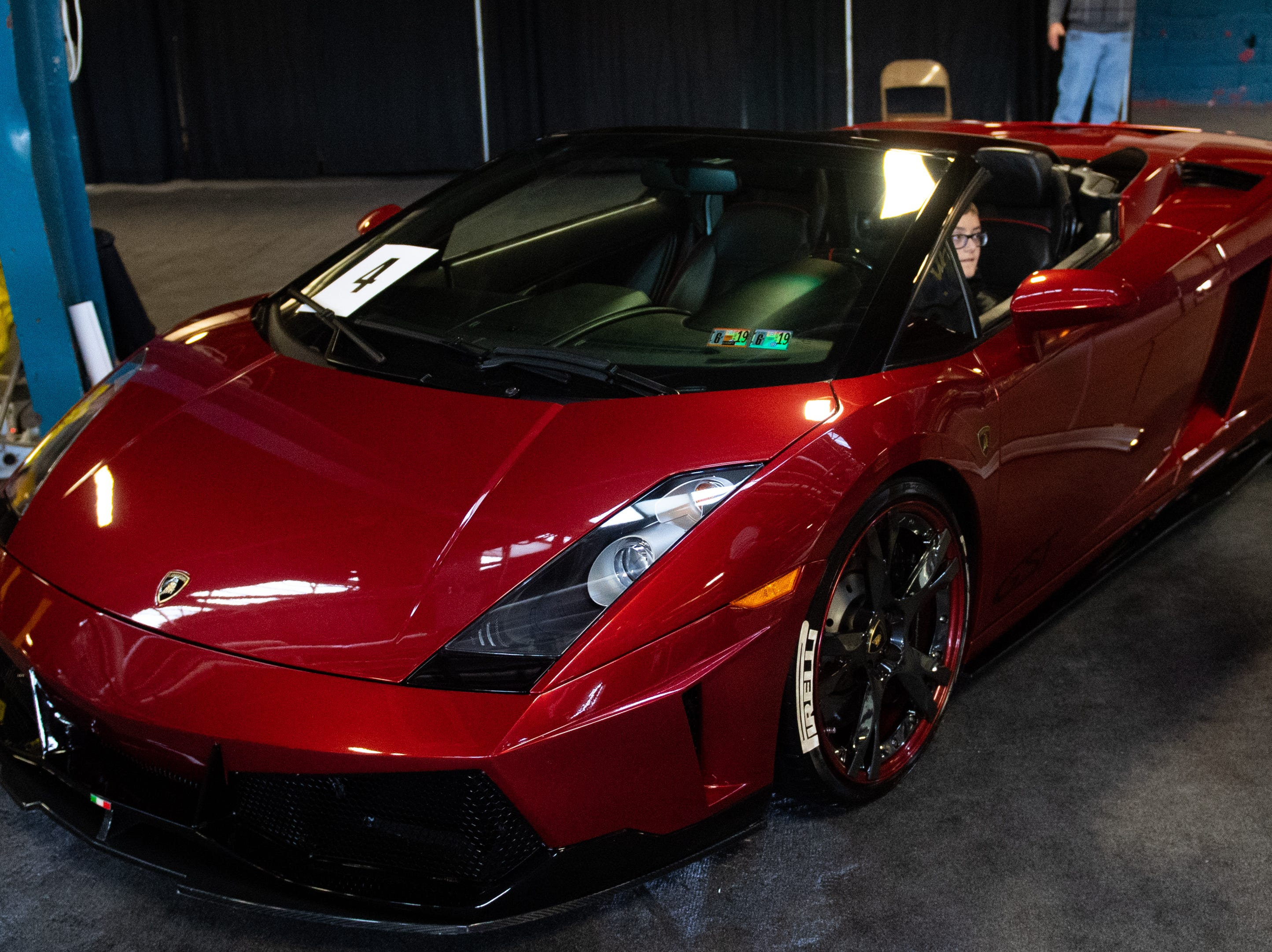 Children can't wait to sit inside of a Lamborghini during the 2019 Pennsylvania Auto Show, Saturday, January 26, 2019 at the Pennsylvania Farm Show Complex & Expo Center. The auto show continues on Sunday from 10 a.m. to 5 p.m.
