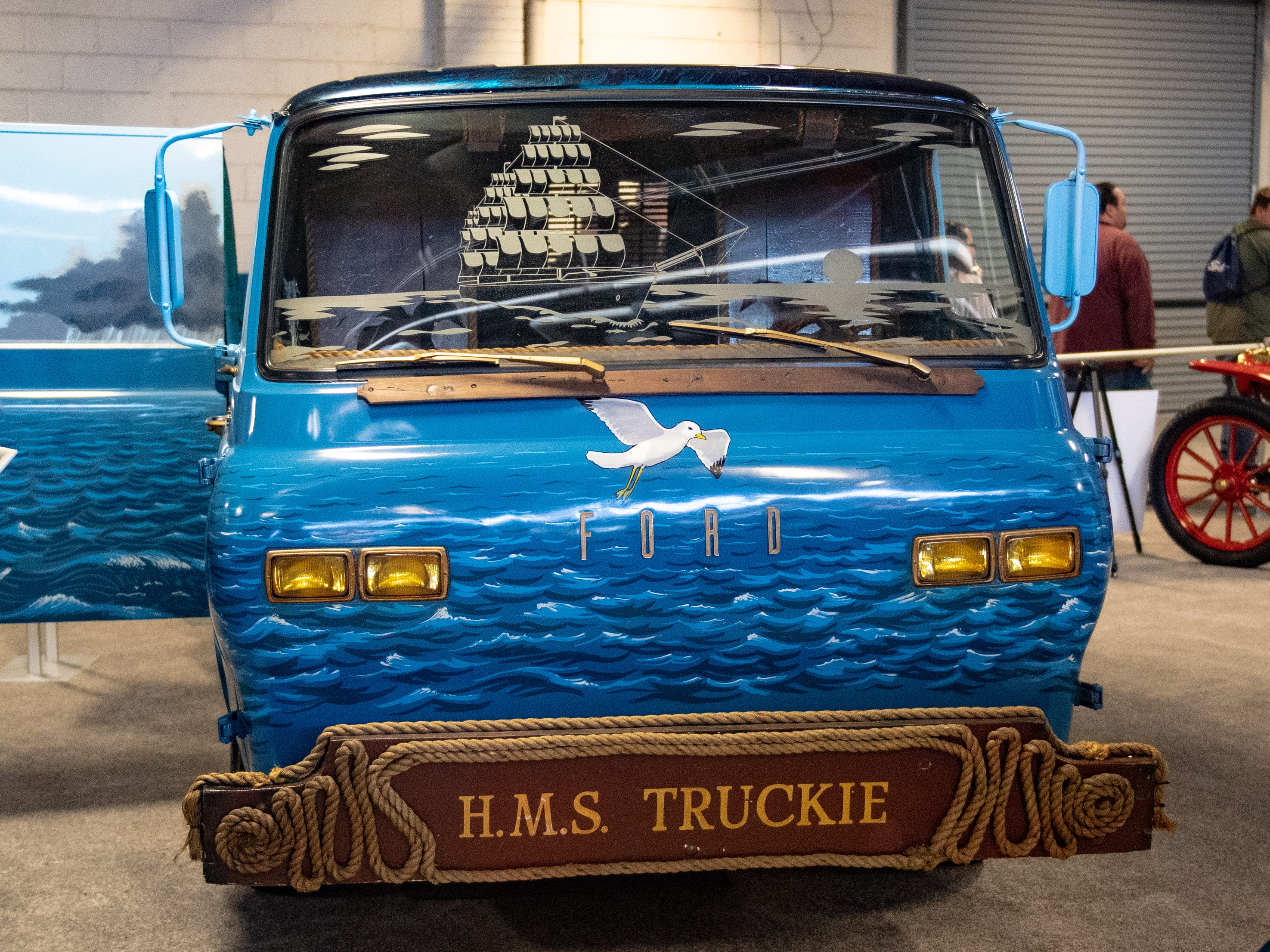A 1967 Ford Econoline sits on display at the 2019 Pennsylvania Auto Show, Saturday, January 26, 2019 at the Pennsylvania Farm Show Complex & Expo Center. The auto show continues on Sunday from 10 a.m. to 5 p.m.