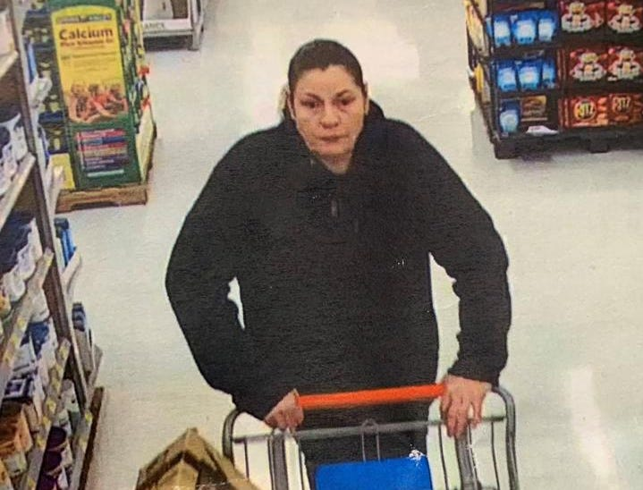 Woman with widow's peak wanted in retail theft.