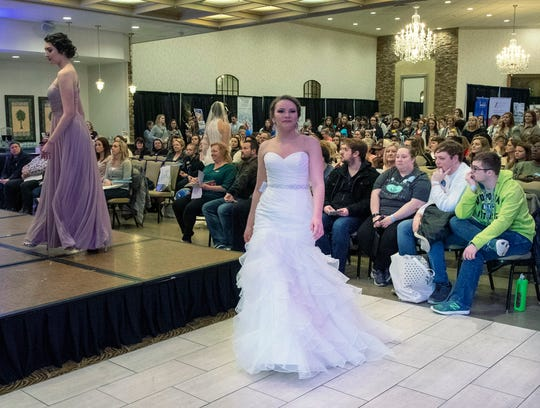 Models show the latest bridal fashion during the York Bridal Show, Best Wedding Showcase at the Wyndham Garden in West Manchester Township