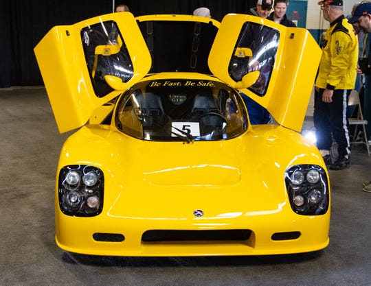 An Ultima GTR sits on display at the 2019 Pennsylvania Auto Show, Saturday, January 26, 2019 at the Pennsylvania Farm Show Complex & Expo Center. The auto show continues on Sunday from 10 a.m. to 5 p.m.