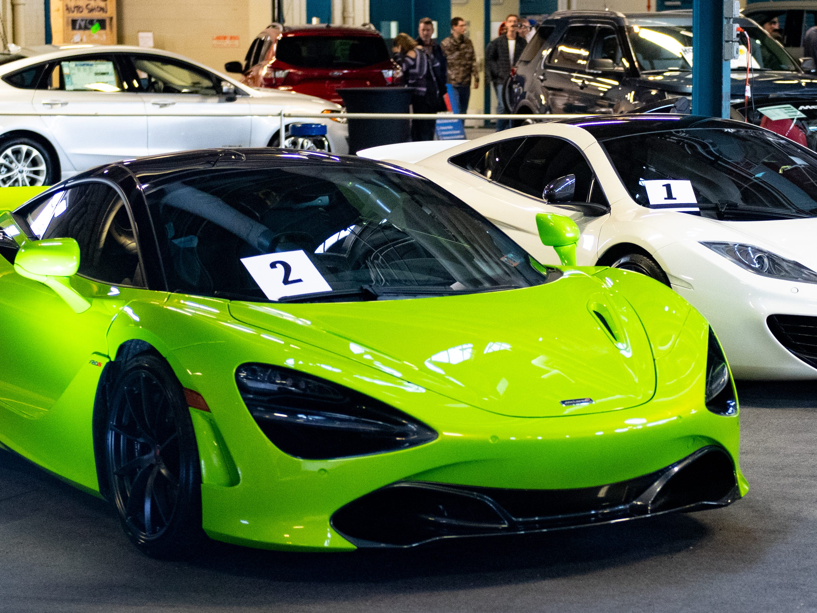 Super Cars are a popular exhibit at the 2019 Pennsylvania Auto Show, Saturday, January 26, 2019 at the Pennsylvania Farm Show Complex & Expo Center. The auto show continues on Sunday from 10 a.m. to 5 p.m.