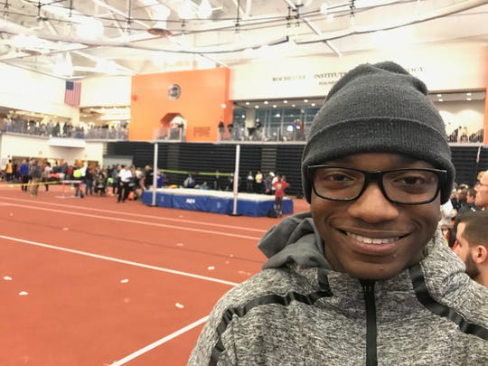 Jaron Nesmith, a senior and sprinter at Churchville-Chili