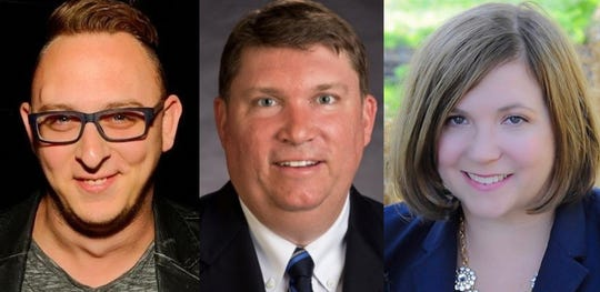 From left, Scotty Ginett, Todd Grady and Linda Hasman are candidates seeking the Monroe County Legislature seat for District 23, covering the east side of Rochester and parts of Brighton.
