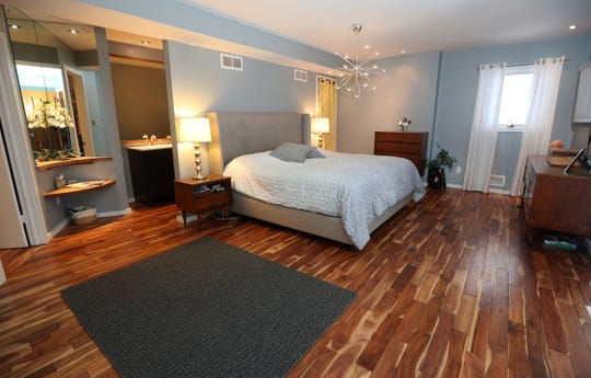 The master bedroom  of the Barg families 4,000 square foot contemporary home in Perinton.