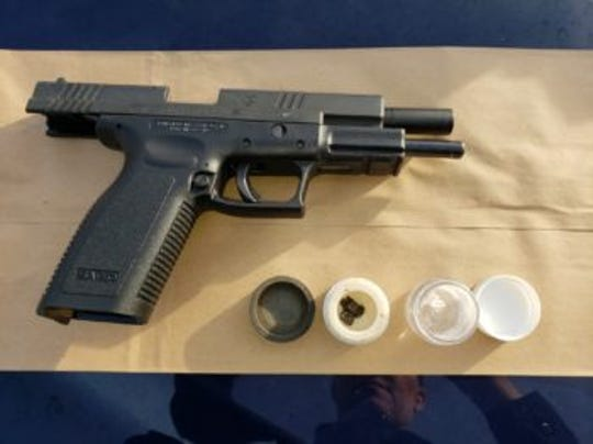 Redding police said they found a gun in near the intersection of Hilltop Drive and Mistletoe Lane in Redding.