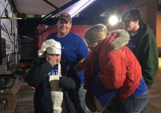 Saylr Moncur, 13, asked Make-A-Wish South Dakota for a camper with a kitchen so she could prepare meals with children going through cancer treatment, since she's six months cancer free. The reveal brought her to tears.