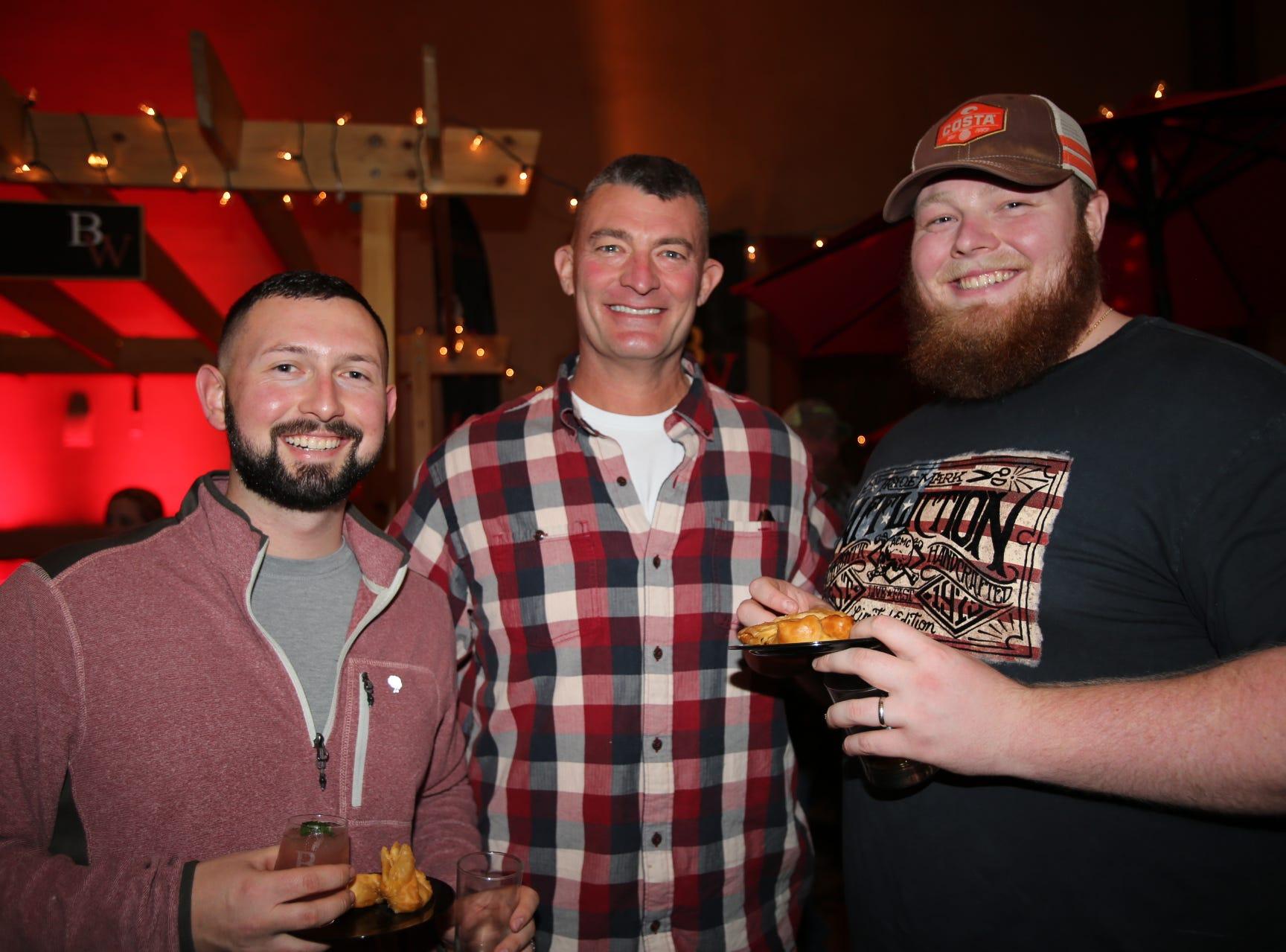 Jordan Eickmeyer, Dr Mark Massey, and Bob Massey