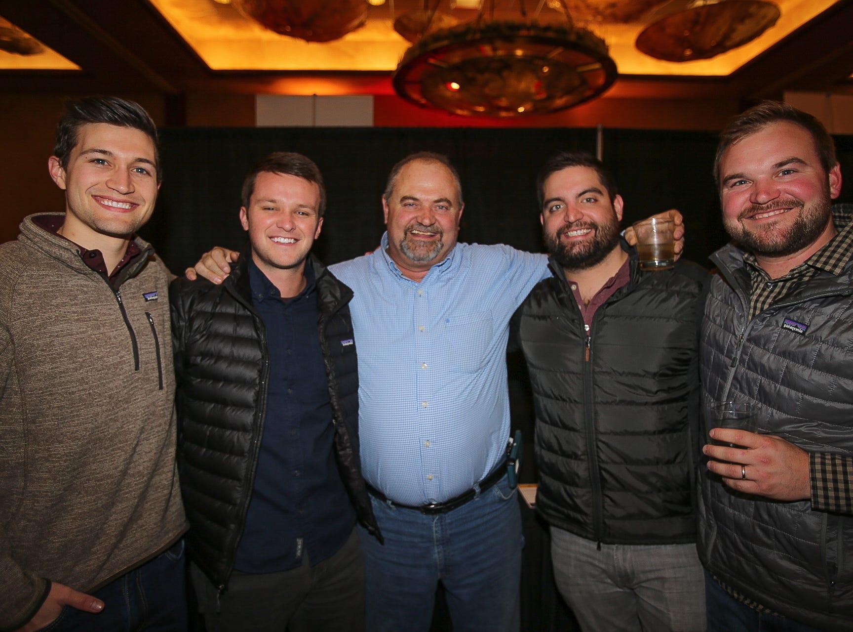 Nick McDowell, Bradley Herschend, Brian and Zeke King, and Dusty Shackelford