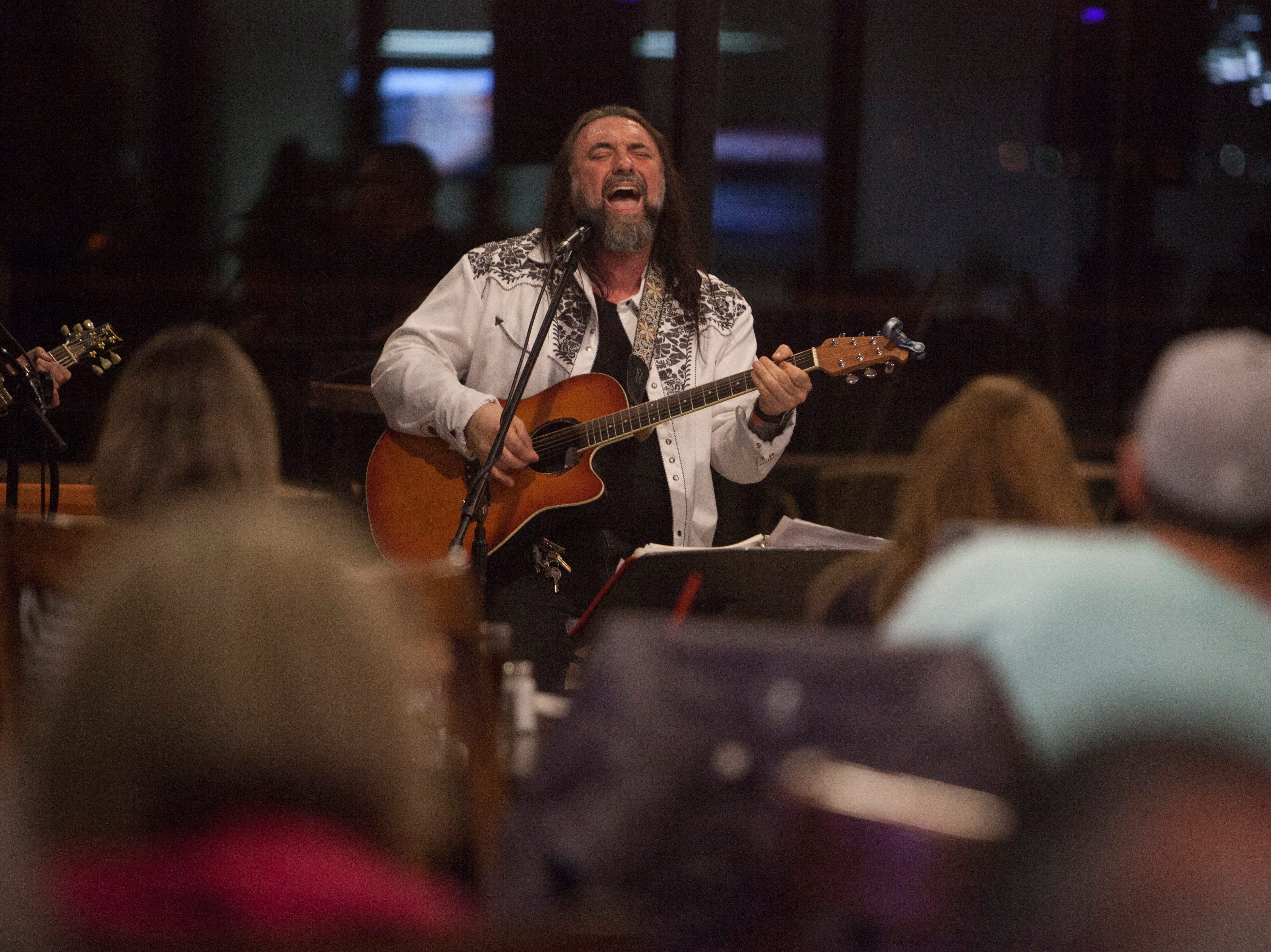 Raven Cain performs at the Sand Hollow Resort Saturday, Jan. 26, 2019.