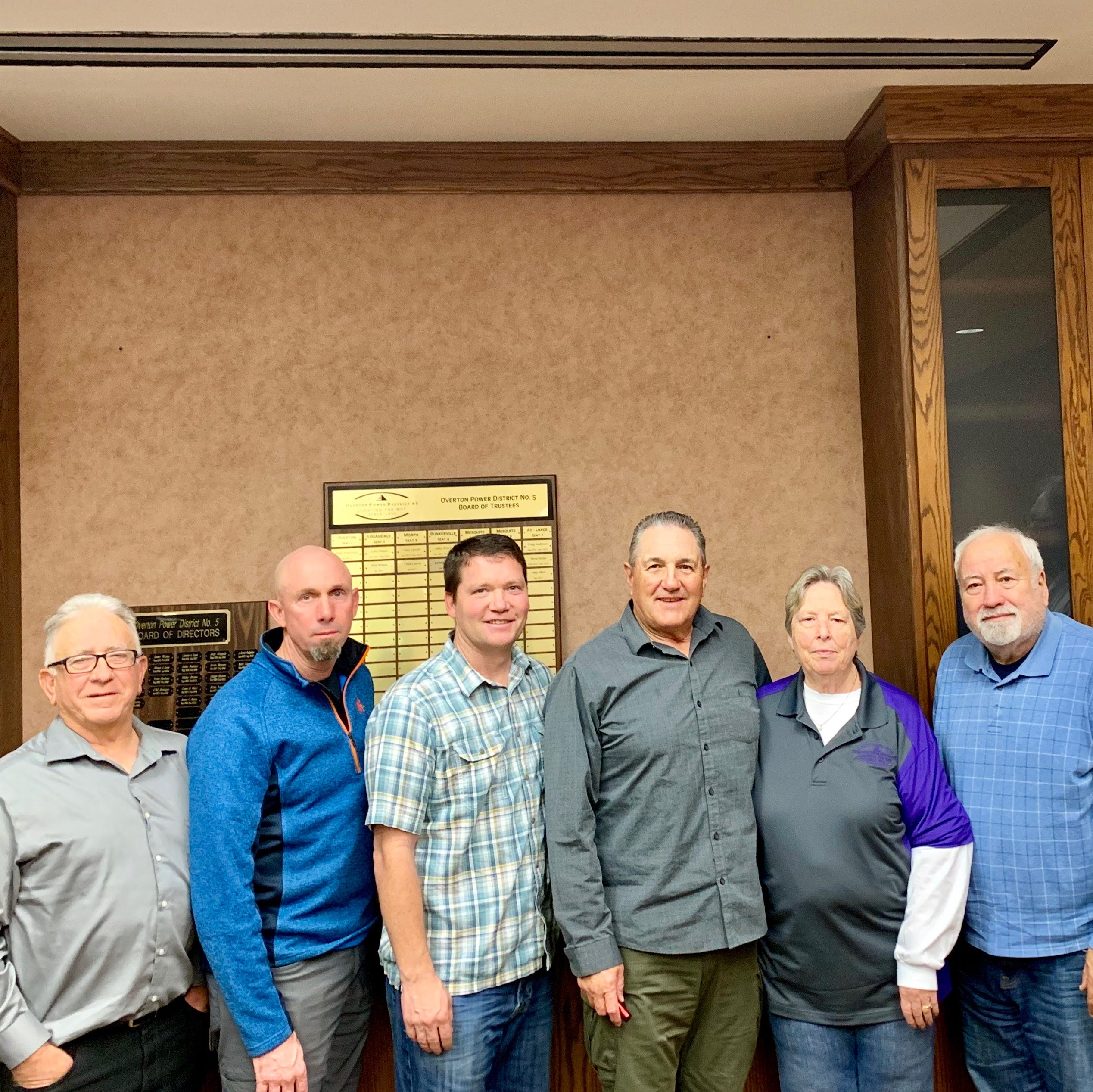 Overton Power District swears in new board members