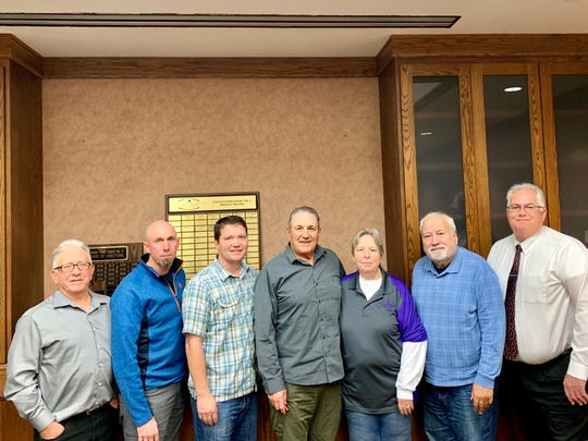 The 2019 Overton Power District Board of Trustees includes, from left to right, Jack Nelson, Robert Bunker, Chad Leavitt, Douglas Waite, Judy Metz, Mike Young, and Richard Jones.