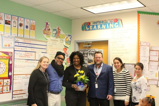 Second-grade teacher Cynthia Barrington was chosen by her peers as Jefferson-Somerset's Elementary Teacher of the Year.