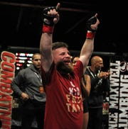 Tallahassee native Bill Carpenter, a North Florida Christian alum who won a state baseball title in 2007, competes in his pro MMA debut at Combat Night 100 at The Moon on Jan. 26, 2019.