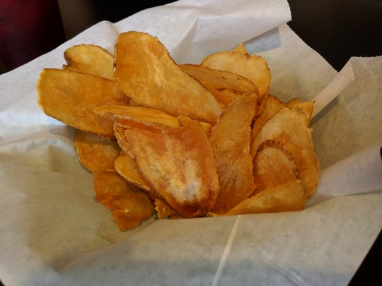 Downtown Crossing of Sebastian serves up baskets of freshly-cooked, hot and crispy potato chips.