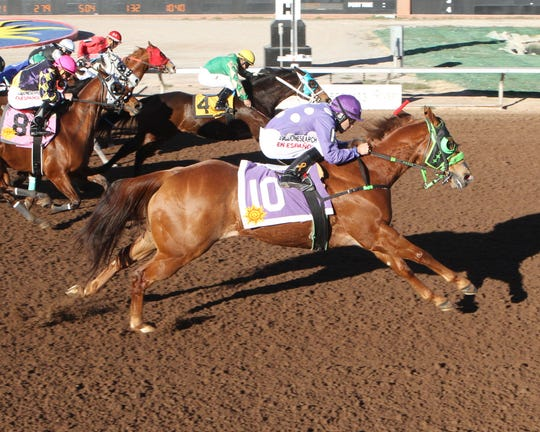 Eye N Capo won the 350-yard, Grade III Rio Grande Handicap on Saturday at Sunland Park Racerack & Casino