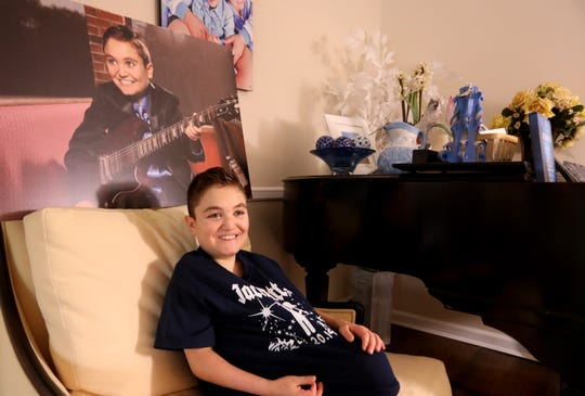 Jack Posnack, 13, at home in New City Jan. 23, 2019. Jack has a rare genetic condition called familial dysautonomia that affects his autonomic nervous system. He has found that the virtual world from video games gives him a chance to connect with other kids and make friends. He is raising money to gift another kid the same gaming system.