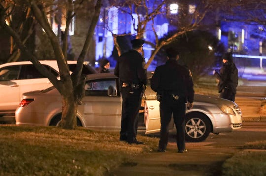 Wilmington police investigate after a shooting at the intersection of N. Van Buren and W. 37th Streets, reported about 7:30 p.m. Saturday.