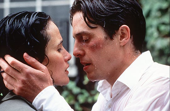 "Hugh Grant and Andie MacDowell found their happily ever after in ""Four Weddings and a Funeral."""