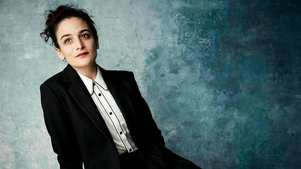 """Jenny Slate poses for a portrait to promote the film """"The Sunlit Night"""" at the Salesforce Music Lodge during the Sundance Film Festival on Saturday, Jan. 26, 2019, in Park City, Utah. (Photo by Taylor Jewell/Invision/AP) ORG XMIT: UTTJ315"""