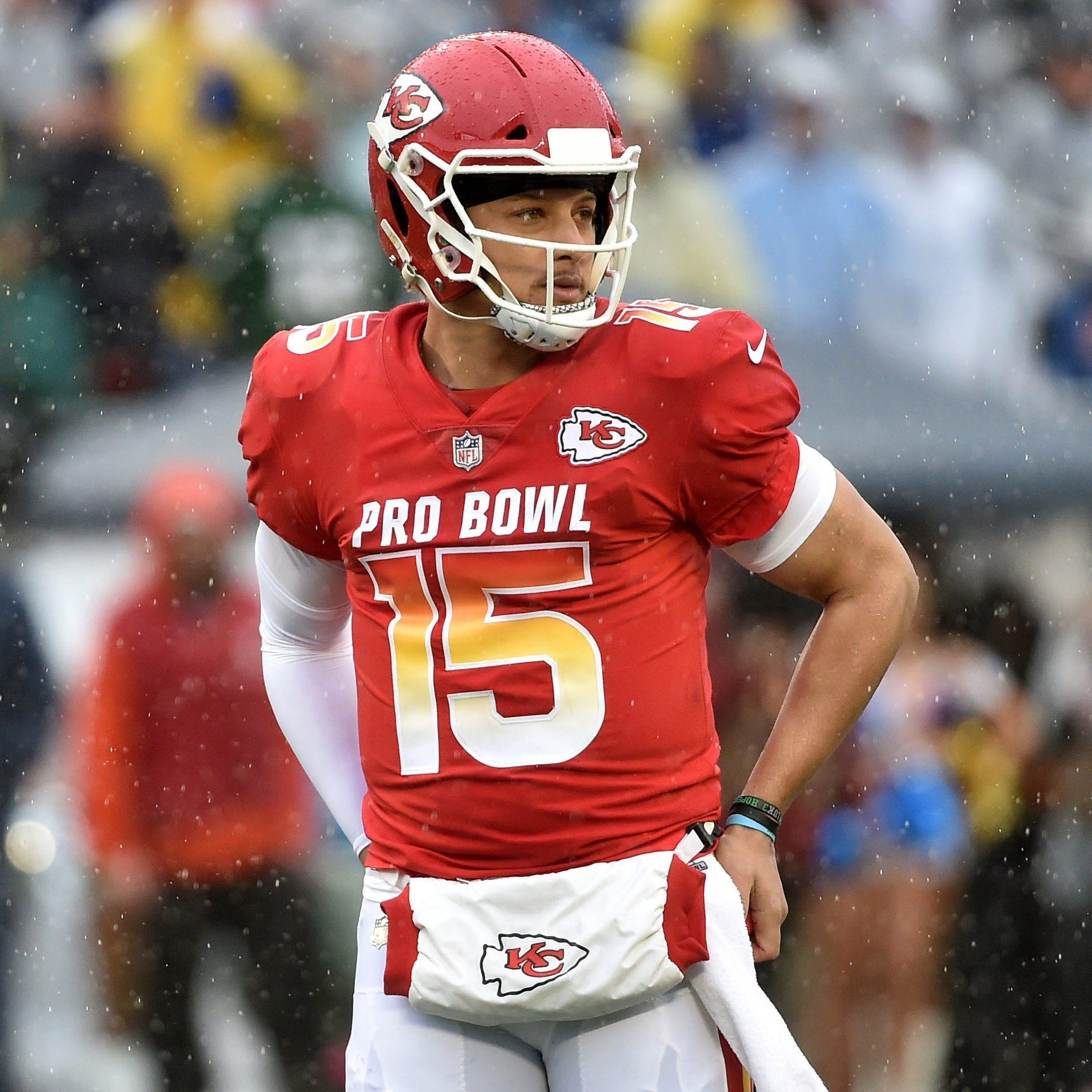 AFC quarterback Patrick Mahomes of the Kansas City Chiefs during the Pro Bowl.