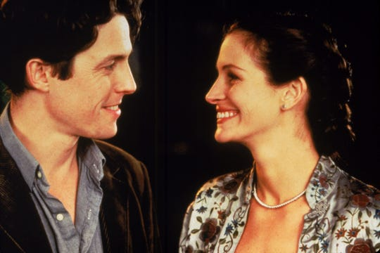 (l-r) Hugh Grant and Julia Robert in Notting Hill. --- DATE TAKEN: rcvd 1999  By Clive Coote   Polygram  , Source: Polygram        HO      - handout ORG XMIT: UT89899