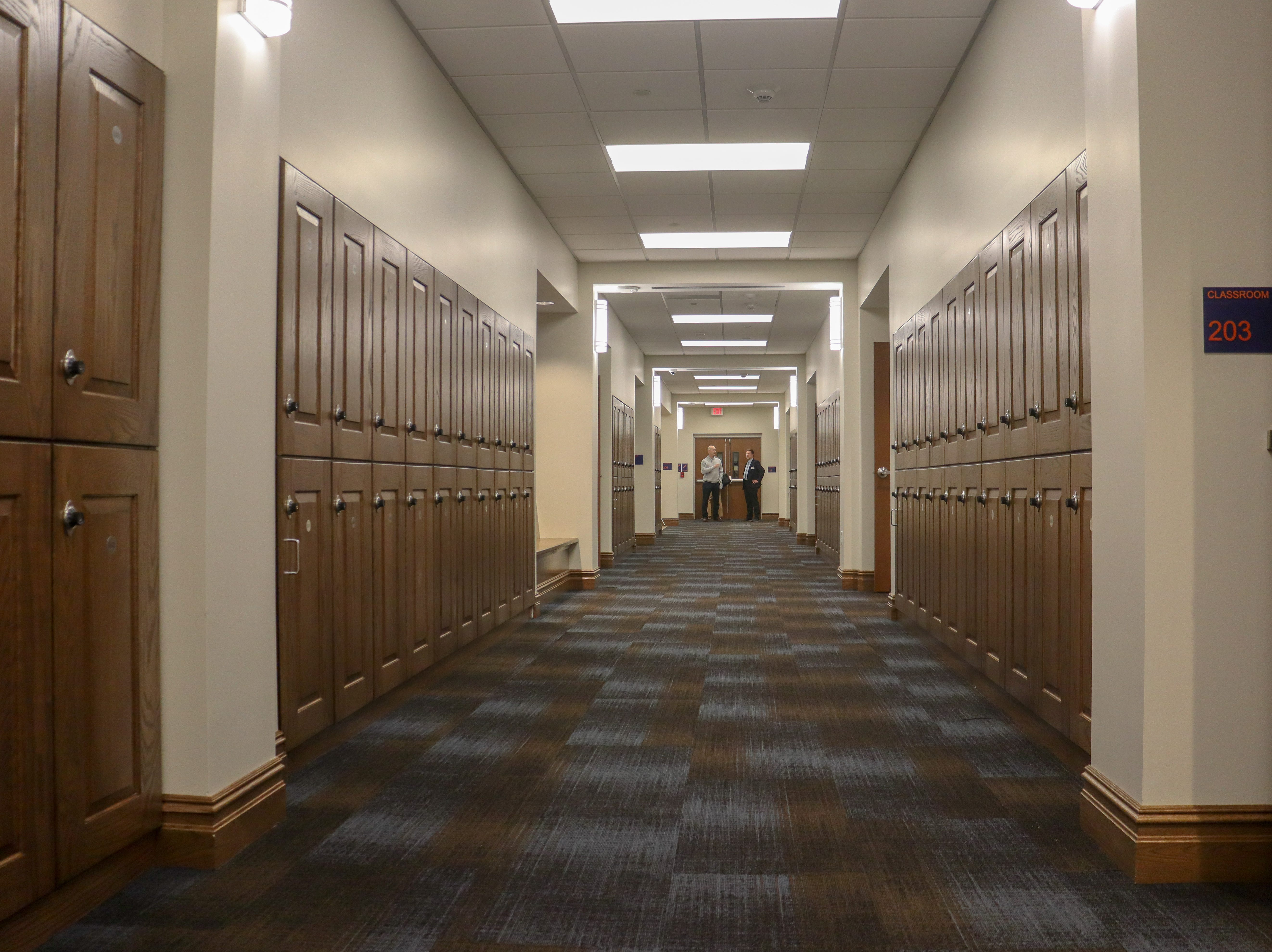Looking down Trinity Hall's new wing, which was part of an expansion at the all-girls' private school on Fort Monmouth that was unveiled on Jan. 25, 2019.