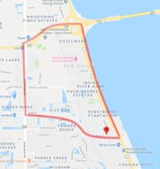 This area in Melbourne near Palm Shores was issued a rabies alert Monday after a stray kitten tested positive for rabies near Industry Drive.
