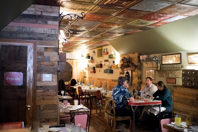 Patrons dine inside Under the Moon Monday, Jan. 28, 2019 in Bordentown, N.J.