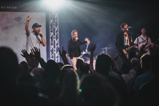 A live band performs during services at Centerpoint Church.