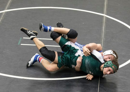 Chillicothe's Caleb Lake took second place in the 126-pound weight class at the annual Miami Trace McDonald's invitational on Saturday, January 26, 2019.