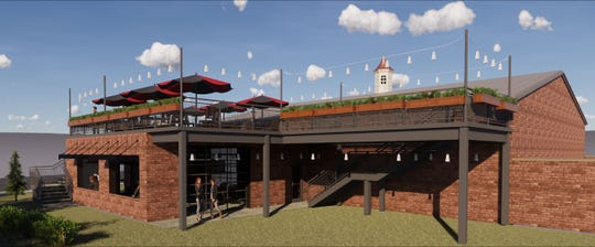 Here's a rendering of an addition with a rooftop desk that the Little Miami Brewing Co. in Milford wants to build.
