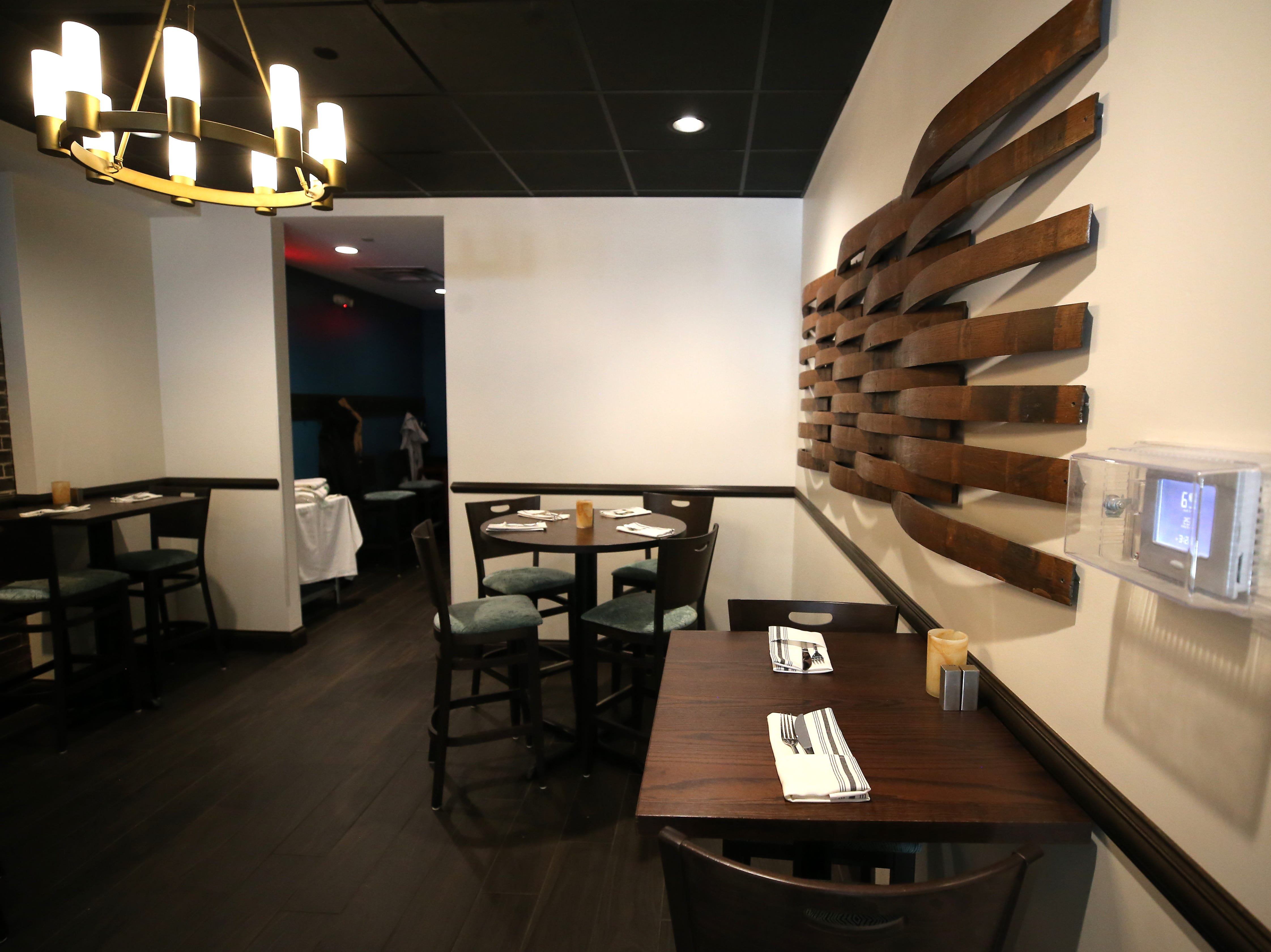 Seating in the bar area, pictured, Friday, Jan. 25, 2019, at Tano Bistro restaurant in Loveland, Ohio.