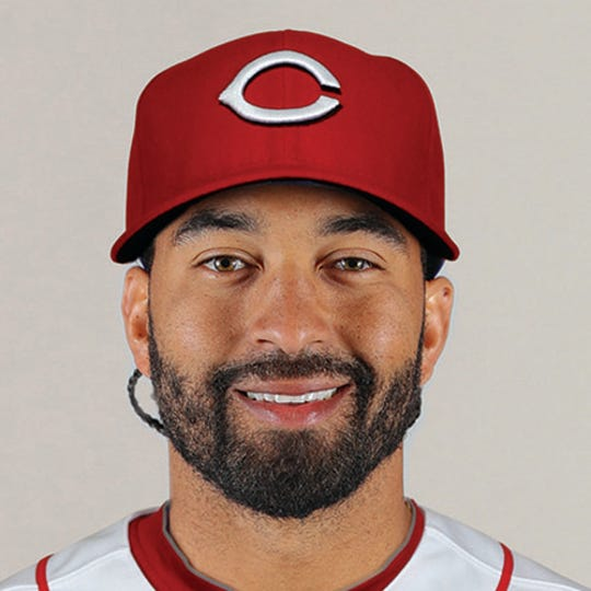 Dec 18, 2018; Cincinnati Reds outfielder Matt Kemp poses for a photo after offseason trades.