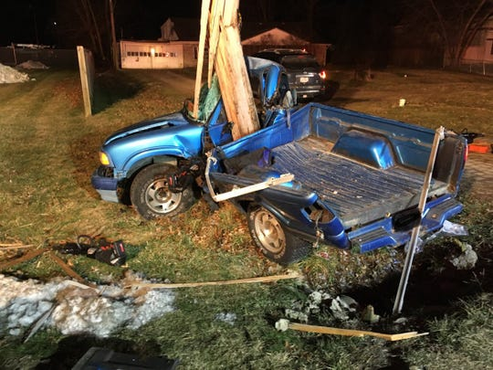 A 1994 GMC Sonoma that was involved in a Jan. 26 crash on Ohio 131 in Miami Township, Clermont  County.