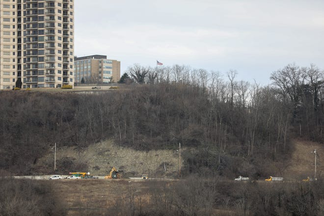The Columbia Parkway landslide in January 2019.