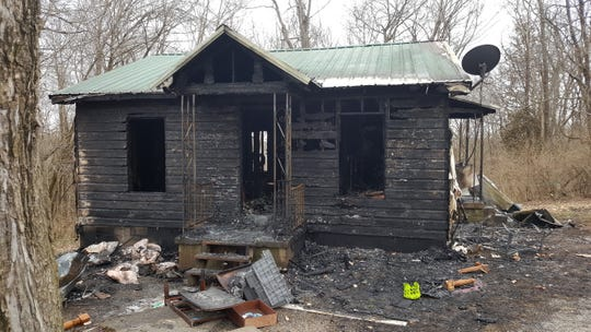 The house at 114 Duncan St. burned down on Monday, Jan. 28, 2019.