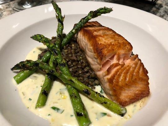 Salmon at the Frenchtown Inn.